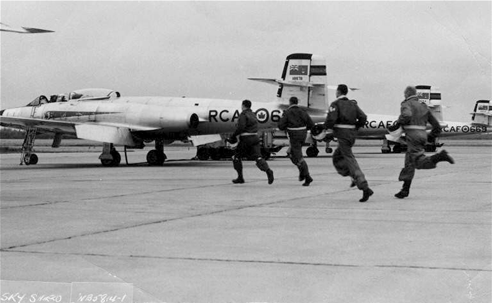 """Sky Shield"" scramble exercise with the Avro CF-100"