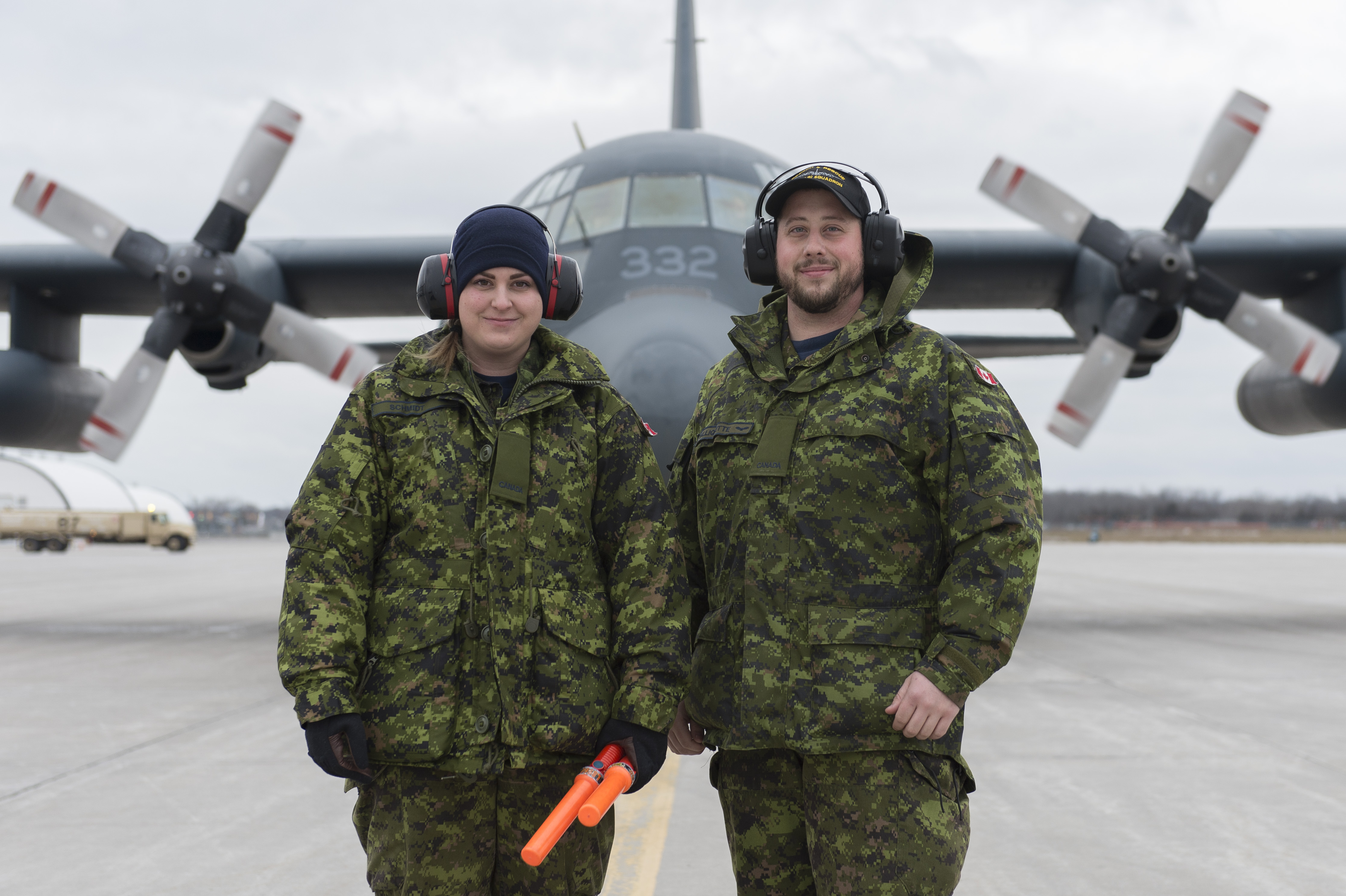 Two Air Operations Support Technicians Aviators