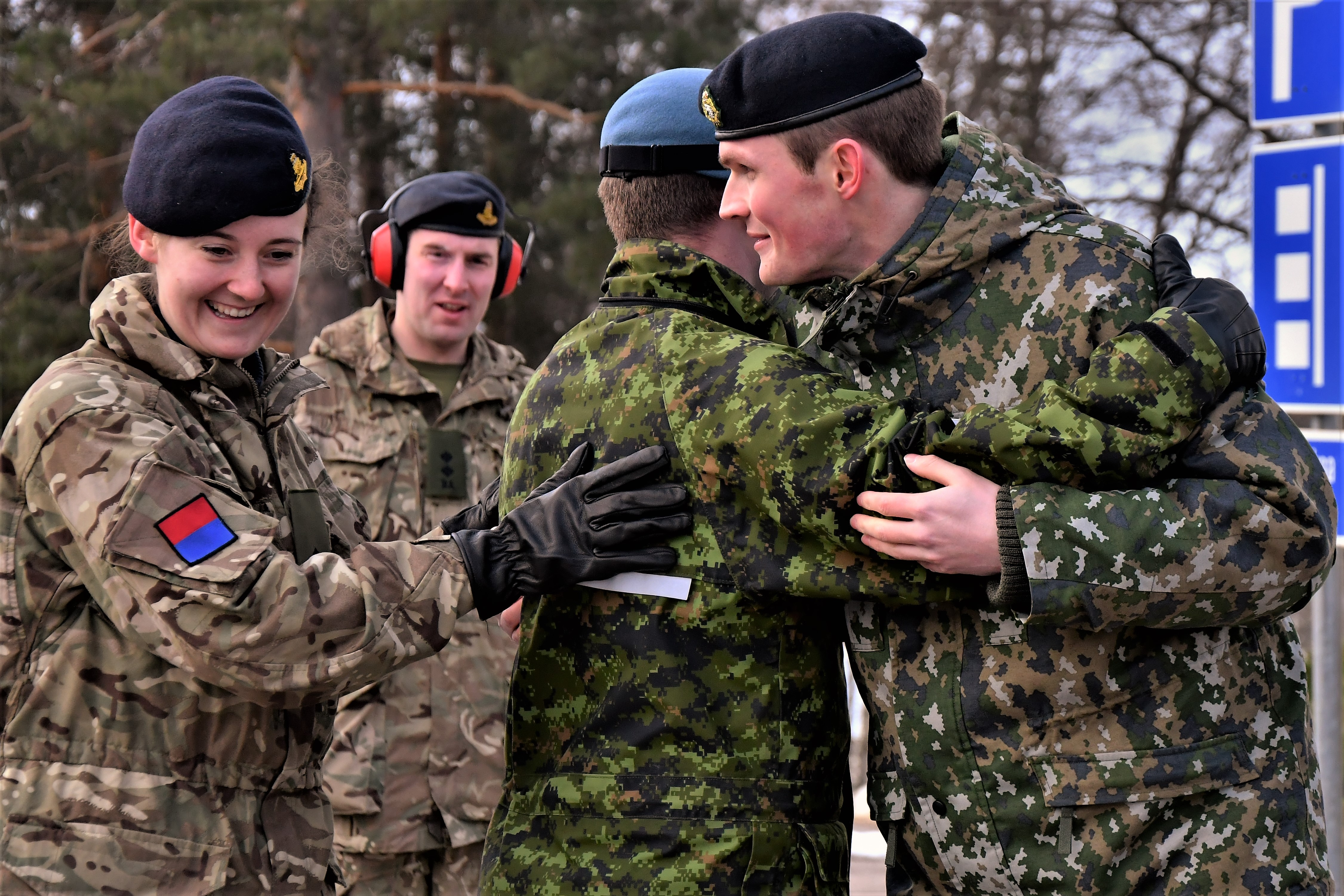 2Lt Lydia Brownlow from the UK and Capt Richard Ackroyd at the Young Reserve Officer's Workshop held in Finland earlier this year.