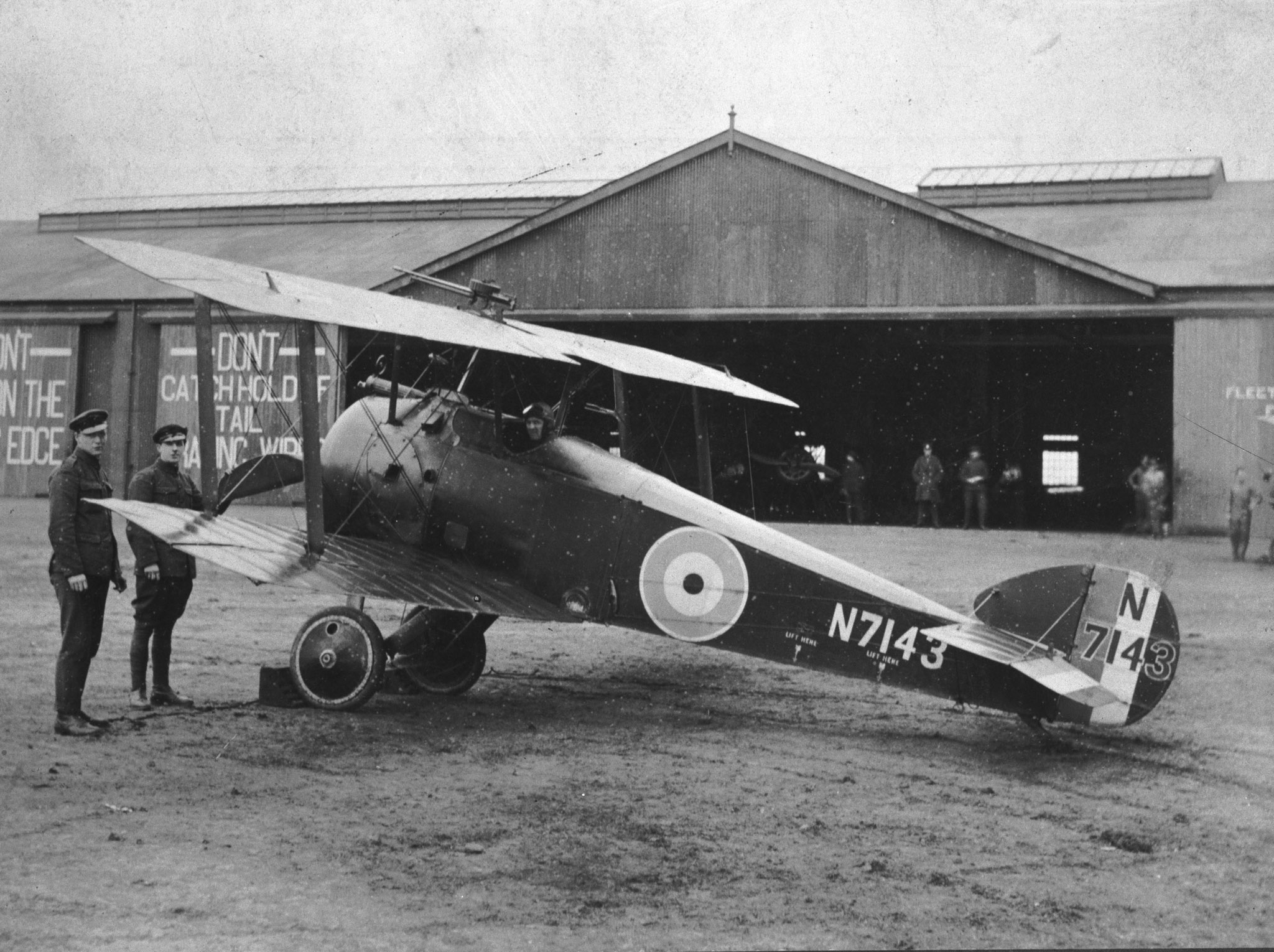 A Sopwith Camel at Turnhouse, Scotland, in 1918. This machine was flown by Lieutenant William S. Lockhart. PHOTO: DND Archives, DND65-90