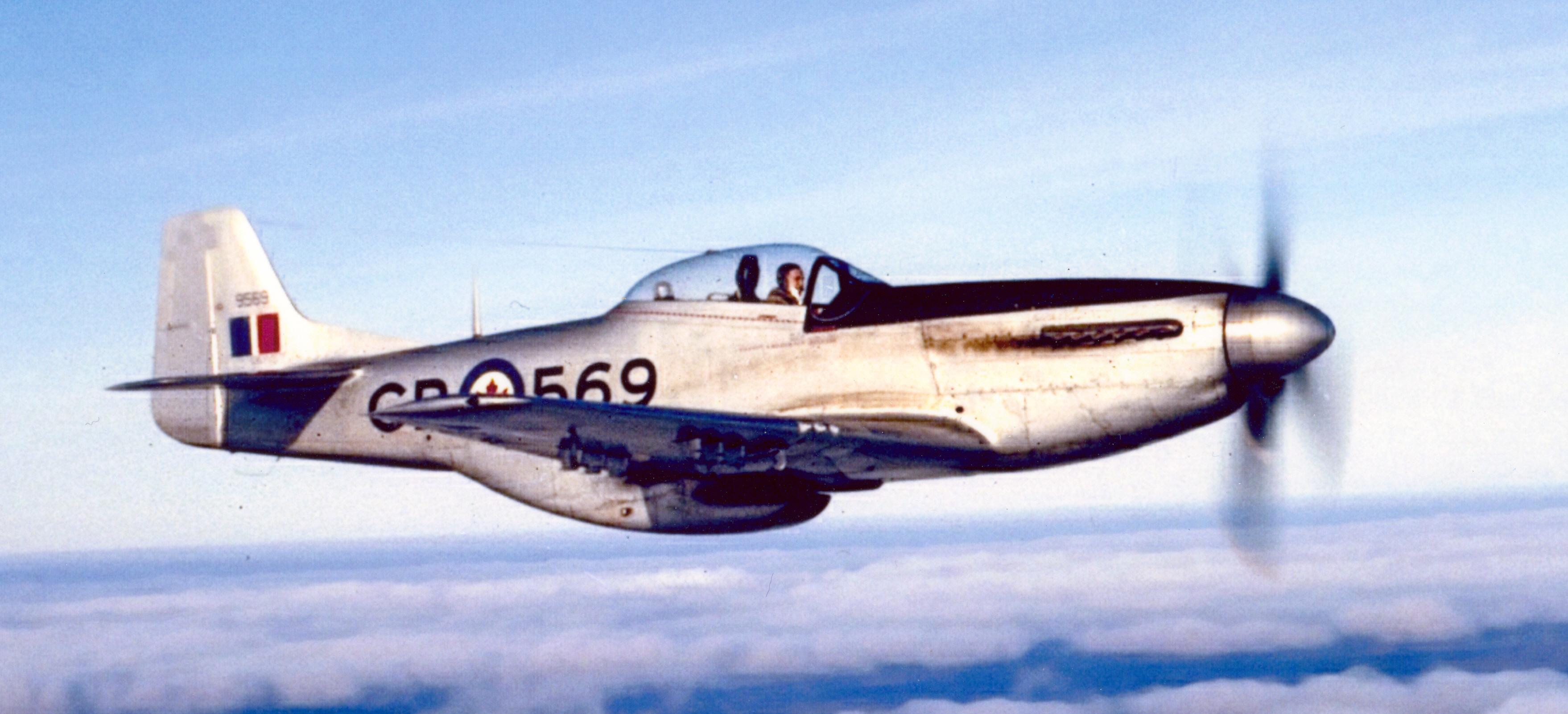 P 51 on Transparent Fighter Plane