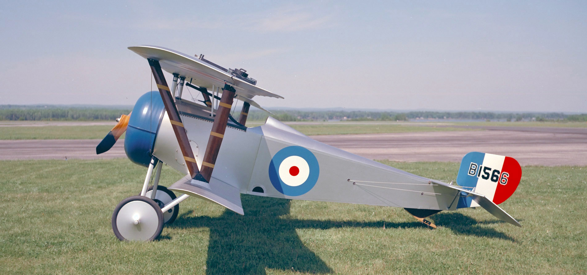 "B1566 is an airworthy replica of the Nieuport 17 Scout flown by Captain William ""Billy"" Bishop, VC during the First World War. It is maintained on display by the Canada Aviation and Space Museum in Ottawa. PHOTO: DND Archives, PCN-4603"