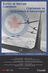 2014 Battle of Britain Ceremony poster