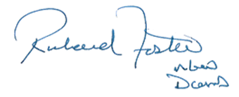 Deputy Commander, Royal Canadian Air Force Major-General Foster's signature for the Commander of the Royal Canadian Air Force. End graphic.