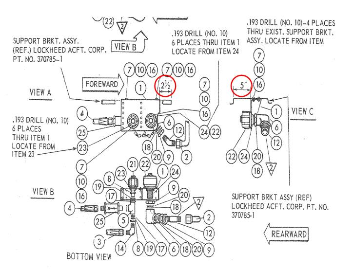 comparison of cf-378, figure 2 bracket installation – original cf-378  showing bracket mounting locations