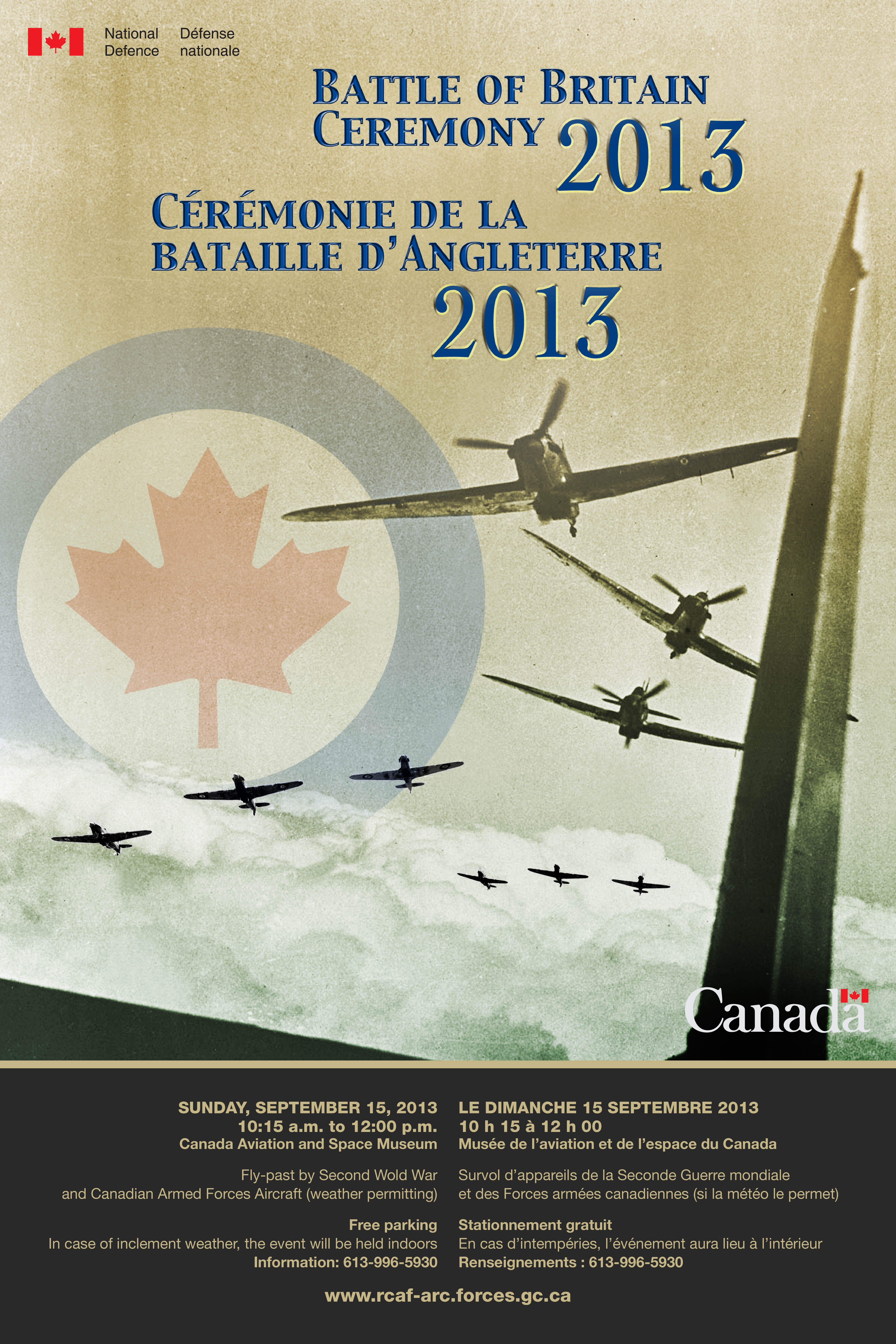The Battle of Britain will be commemorated across the country on Sunday, September 15, 2013. PHOTO: DND.
