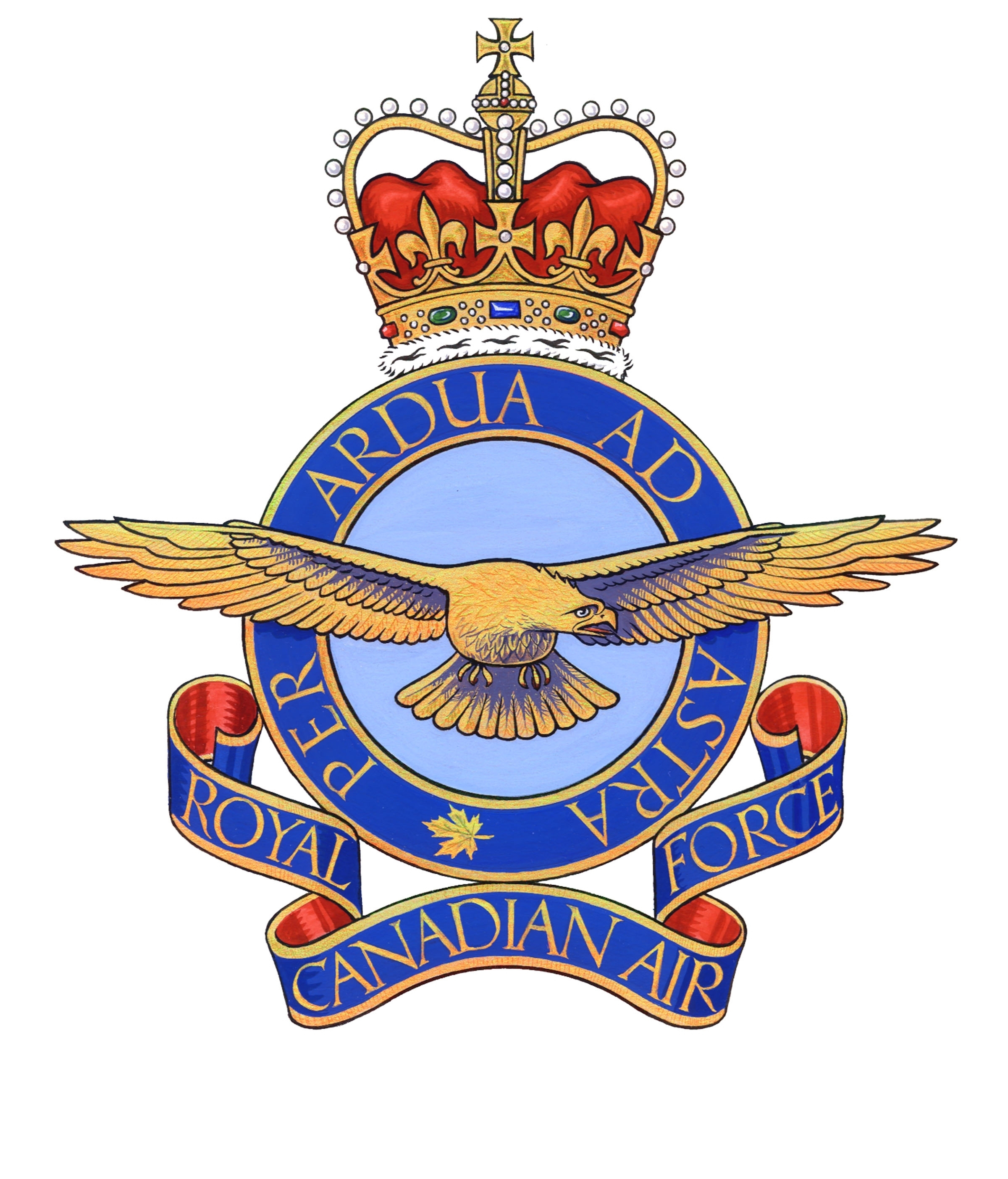 The pre-unification RCAF badge displayed an eagle with wings outstretched. PHOTO: DND.