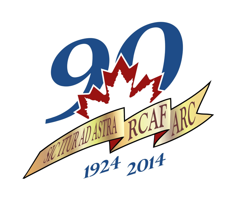 Logo du 90e anniversaire de l'Aviation royale canadienne. PHOTO: MDN