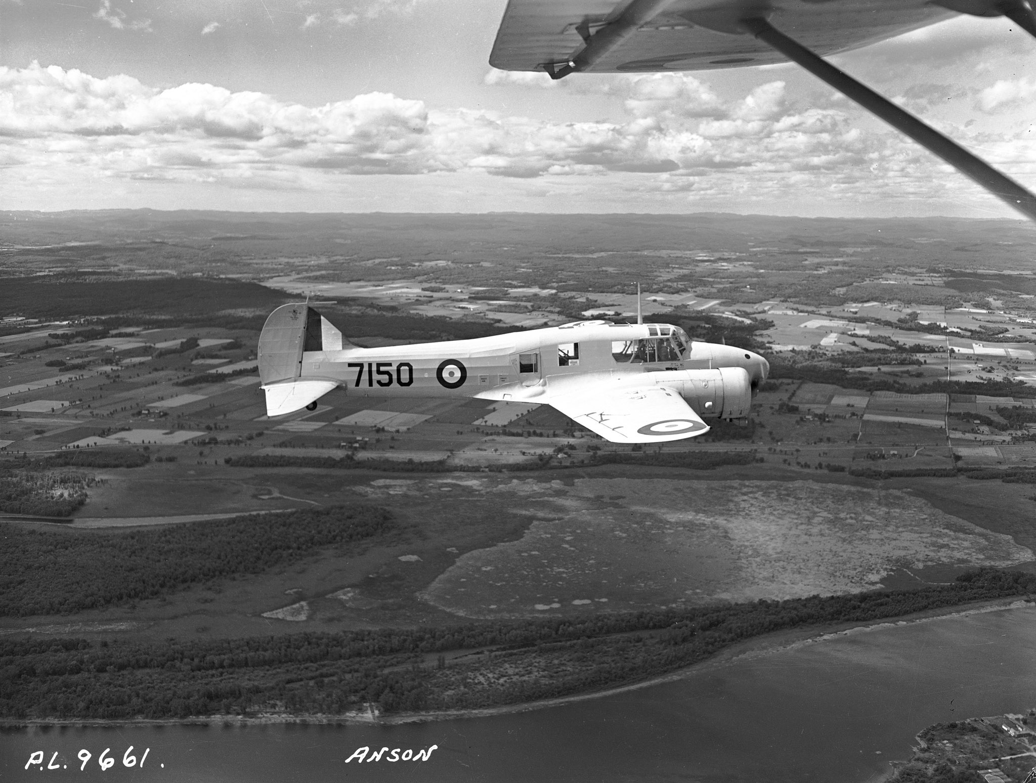 An Avro Anson, similar to the Avro Anson Mark II shown in this August 1942 file photo, crashed in the British Columbia woods in October 1942. All four airmen on board died; their remains were recently recovered and identified. PHOTO: DND