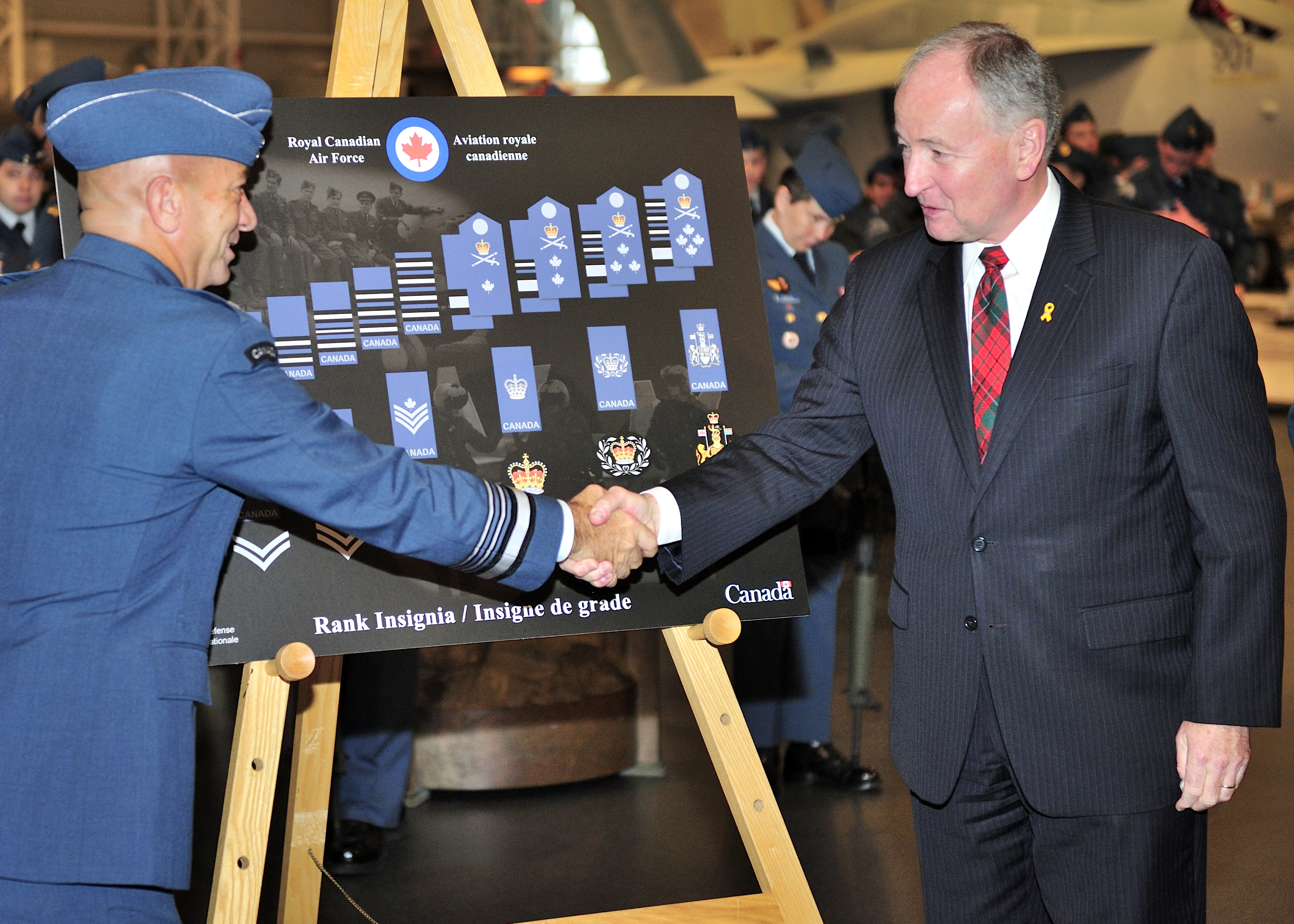 News Article   RCAF receives new rank insignia