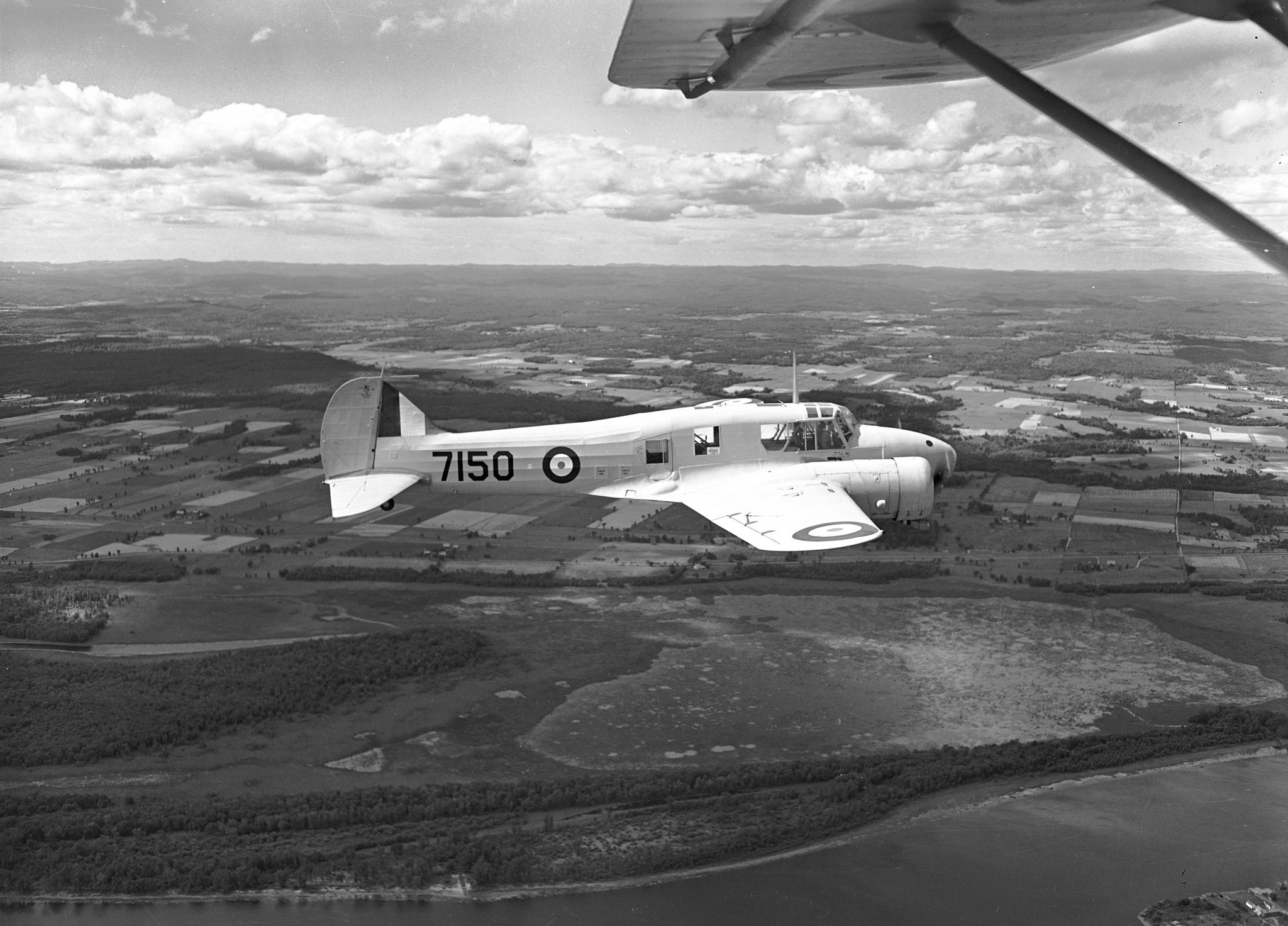 Three Royal Air Force airmen and a Royal Canadian Air Force airman were lost on October 30, 1942, when their Avro Anson, similar to the Avro Anson Mark II shown in this August 1942 file photo, crashed in Southern Vancouver Island, British Columbia. PHOTO: DND