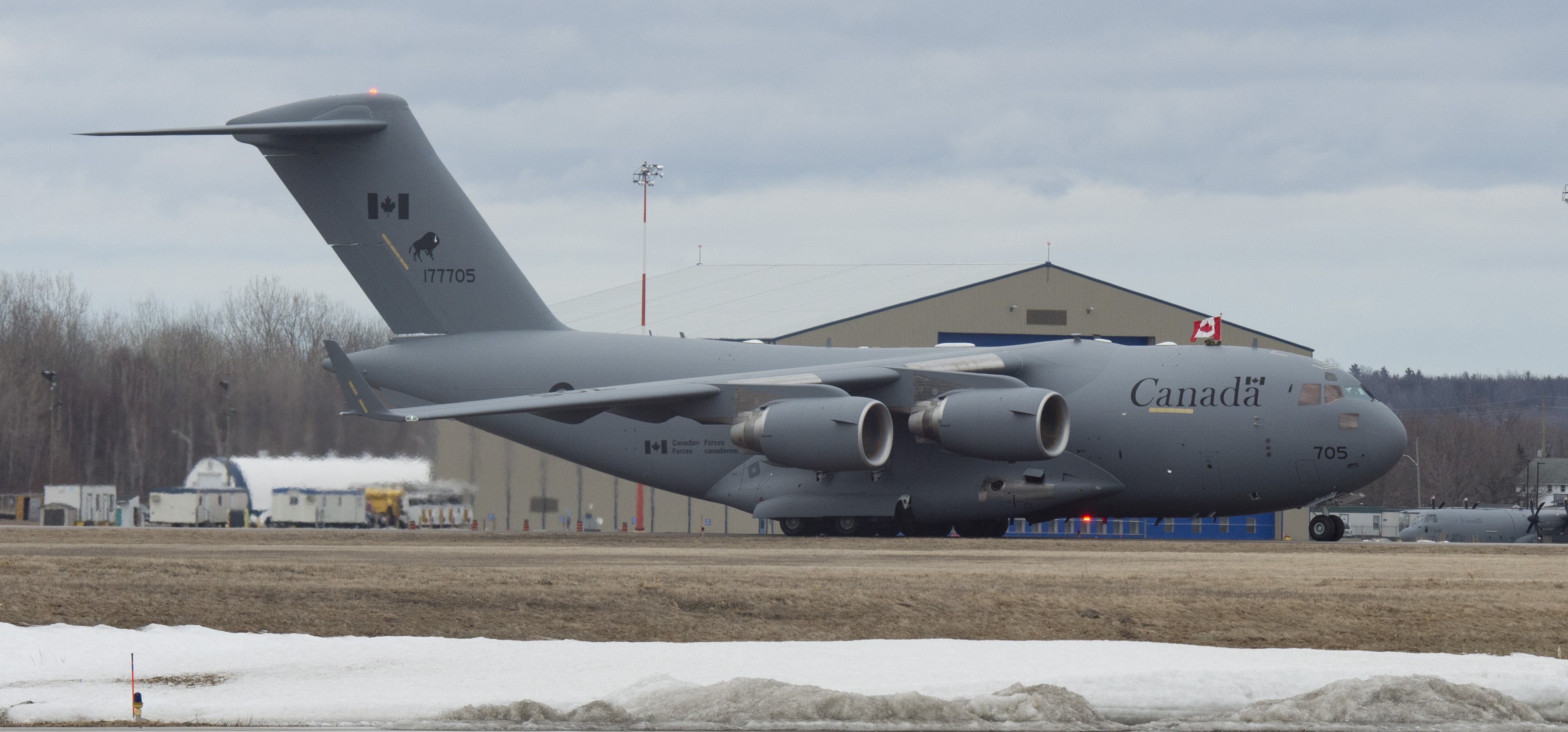 The Royal Canadian Air Force's fifth CC-177 Globemaster III arrived in Canada on March 30, 2015. PHOTO: Corporal Owen W. Budge