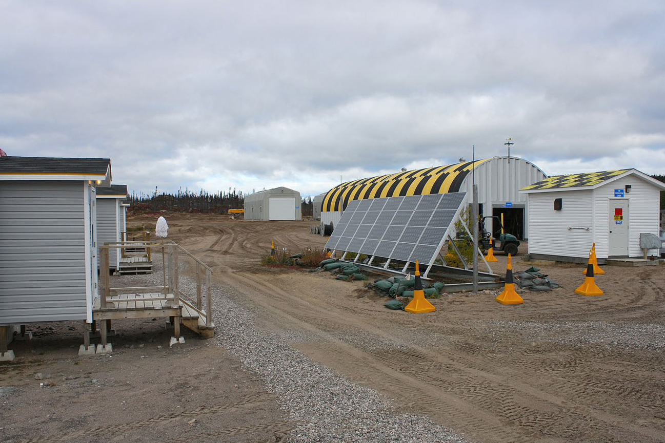 Solar panels and a generator provide electricity to the camp. PHOTO: DND