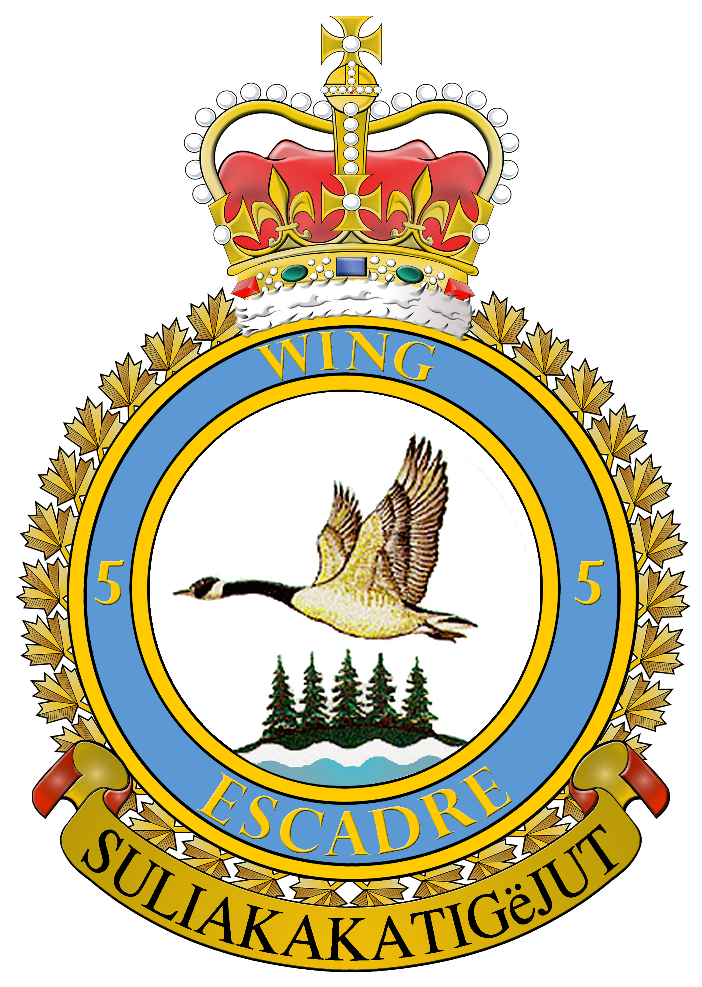 Archived news royal canadian air force news article 5 wings badge was approved in 1975 the canada goose refers to the fact that biocorpaavc
