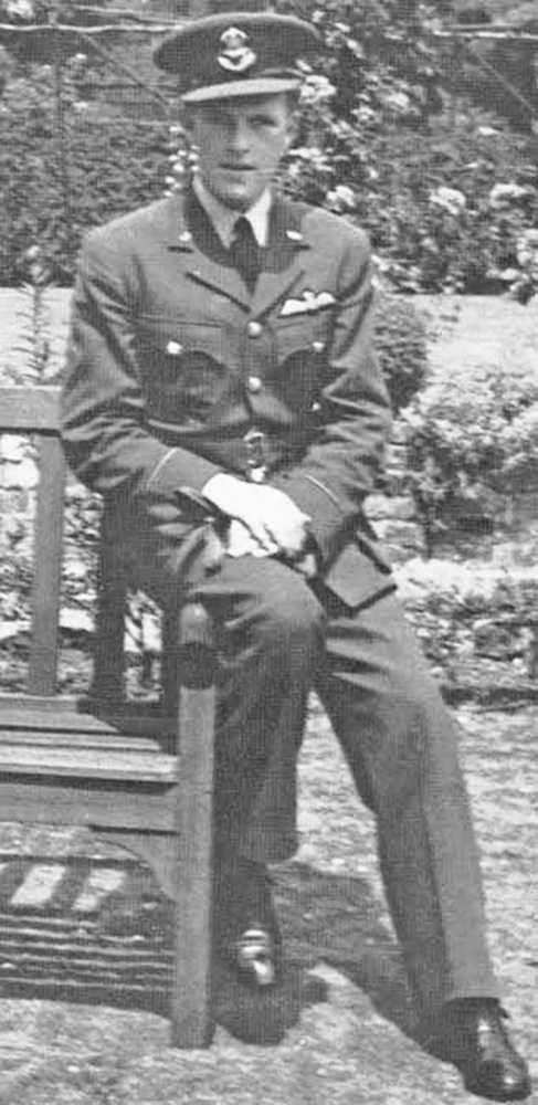 Pilot Officer George Corbett relaxes in uniform in this undated photograph.