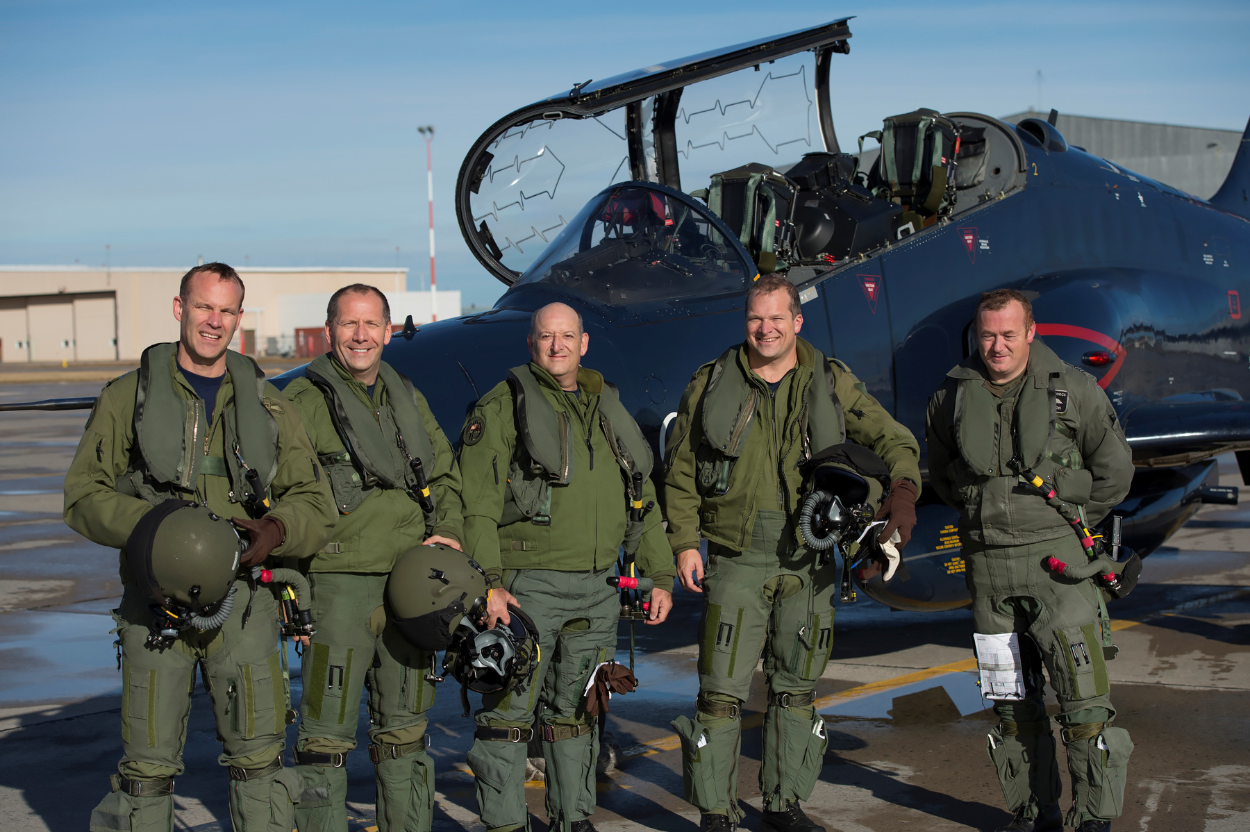 ba7f98ddc3 (From left to right) 419 Squadron's commanding officer, Lieutenant Colonel  Mike Grover; ...