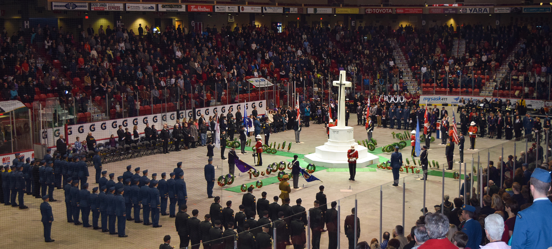 The 15 Wing Moose Jaw Remembrance Day ceremony was held at Mosaic Place in Moose Jaw, Saskatchewan, on November 11, 2015. PHOTO: Second Lieutenant Matt Rowan