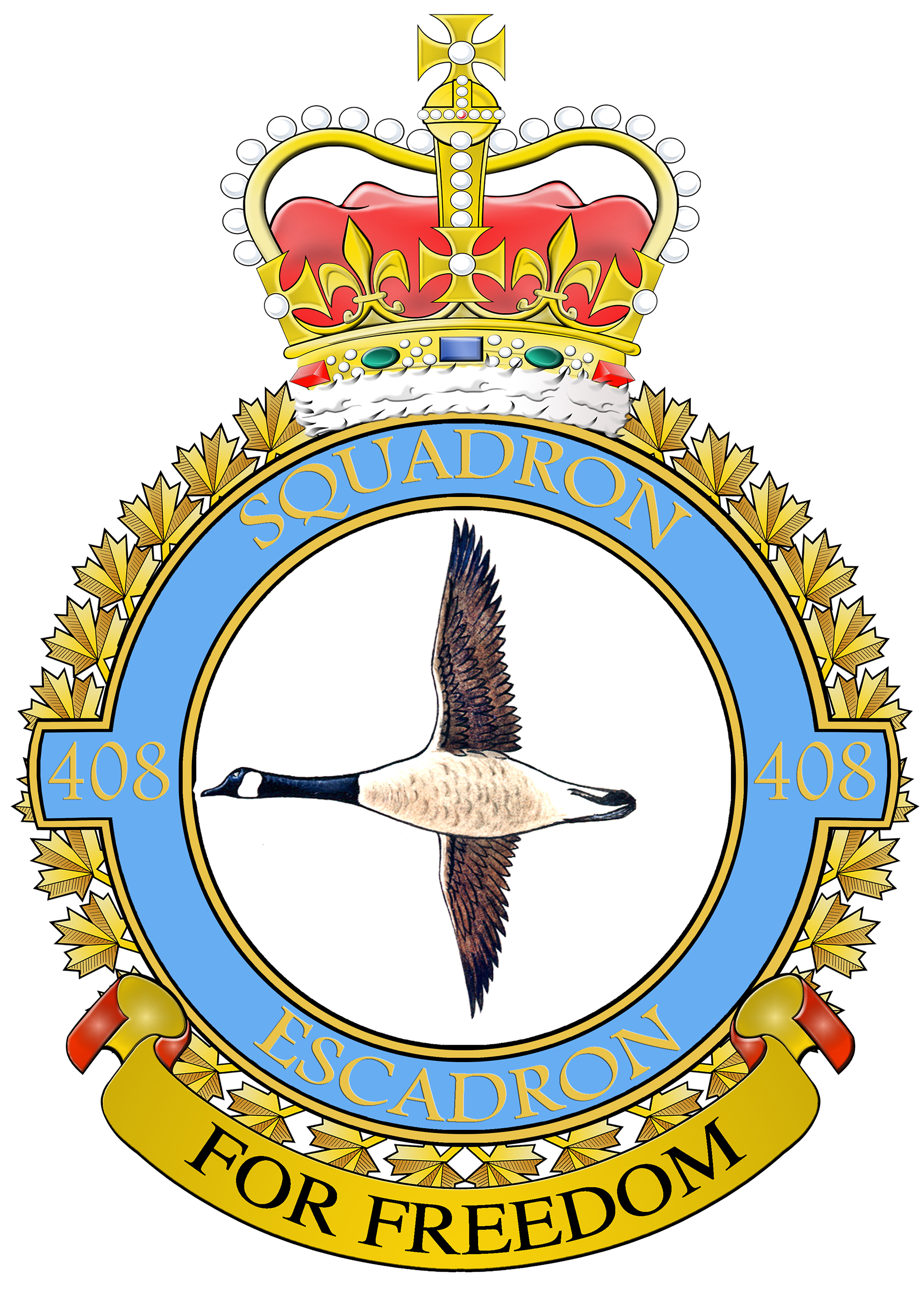 The current 408 Tactical Helicopter Squadron badge, IMAGE: DND