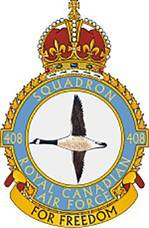 The 408 Bomber Squadron badge from the Second World War years. IMAGE: DND