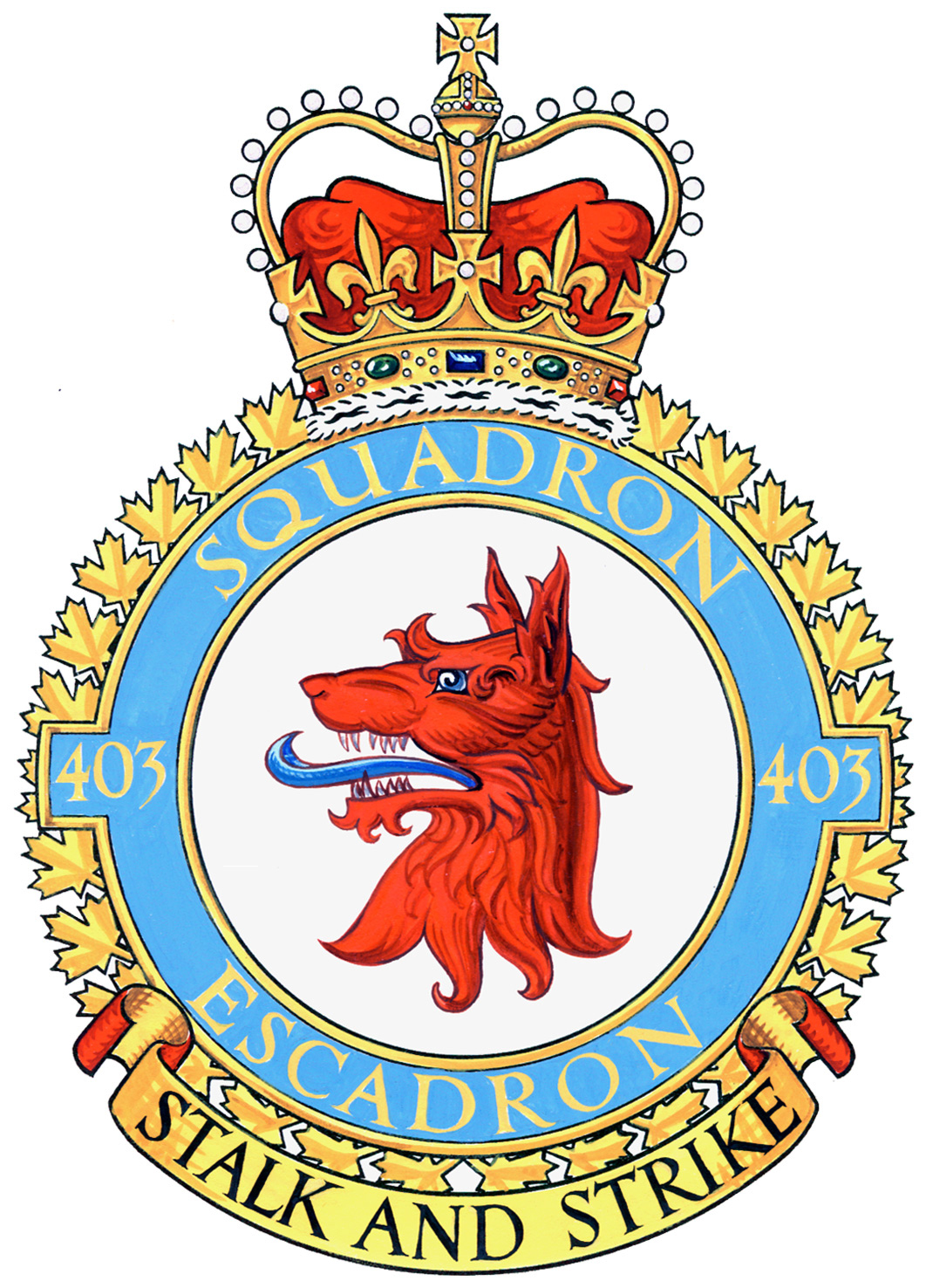 403 Squadron badge IMAGE: DND
