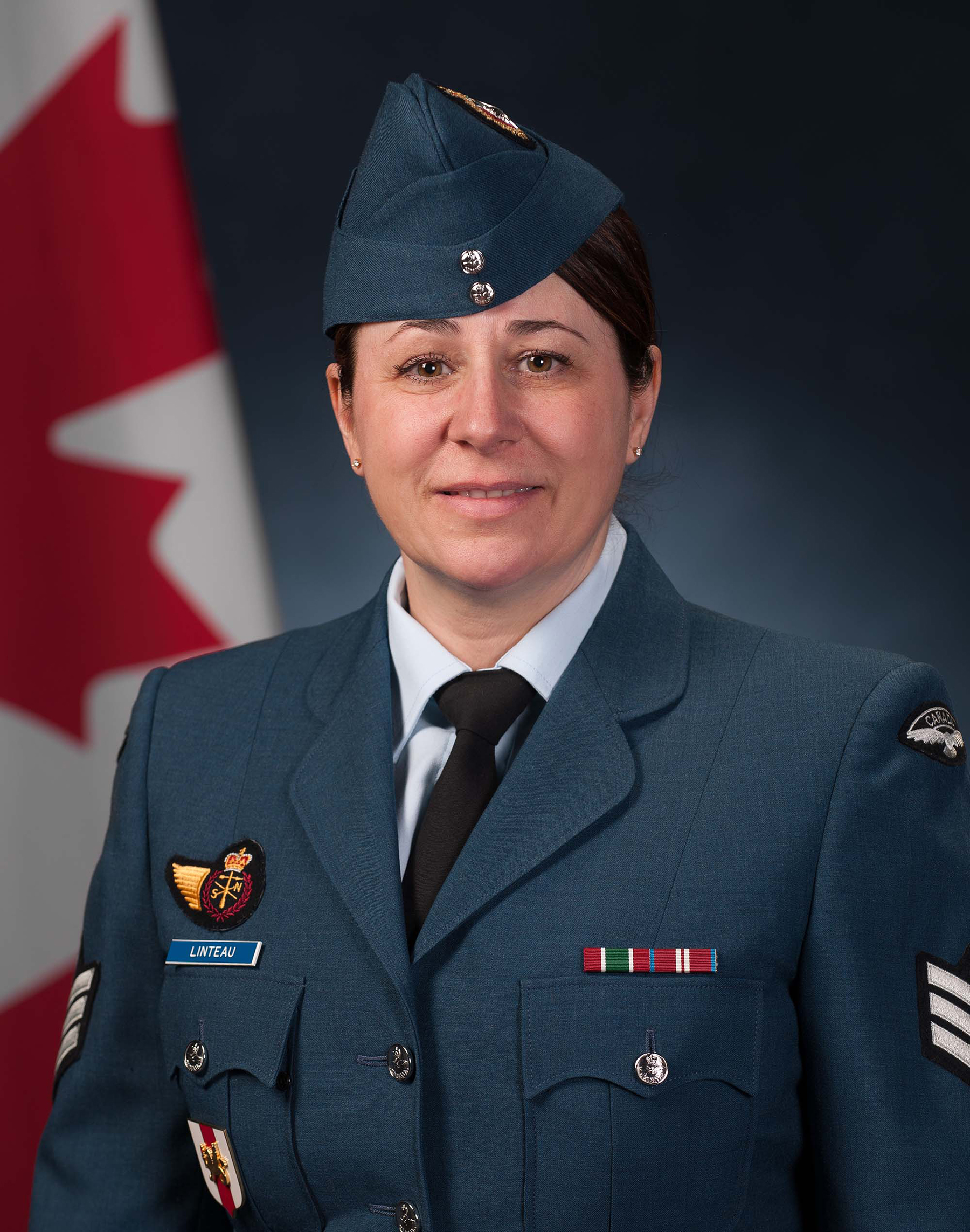 Sergeant Caroline Linteau works as a meteorology technician and instructor with the Royal Canadian Air Force.