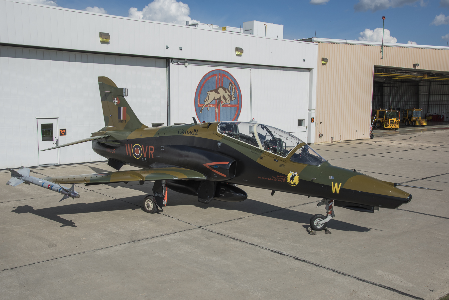 "In honour of 419 ""City of Kamloops"" Squadron's 75th anniversary, the squadron unveiled their newly painted CT-155 Hawk during a ceremony on June 2, 2016, at 4 Wing Cold Lake, Alberta. PHOTO: Corporal Bryan Carter"