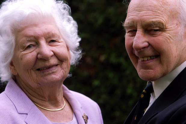 Percy Beake and his wife Evelyn on the occasion of their 65th wedding anniversary in 2007. PHOTO: Exeter Express and Echo
