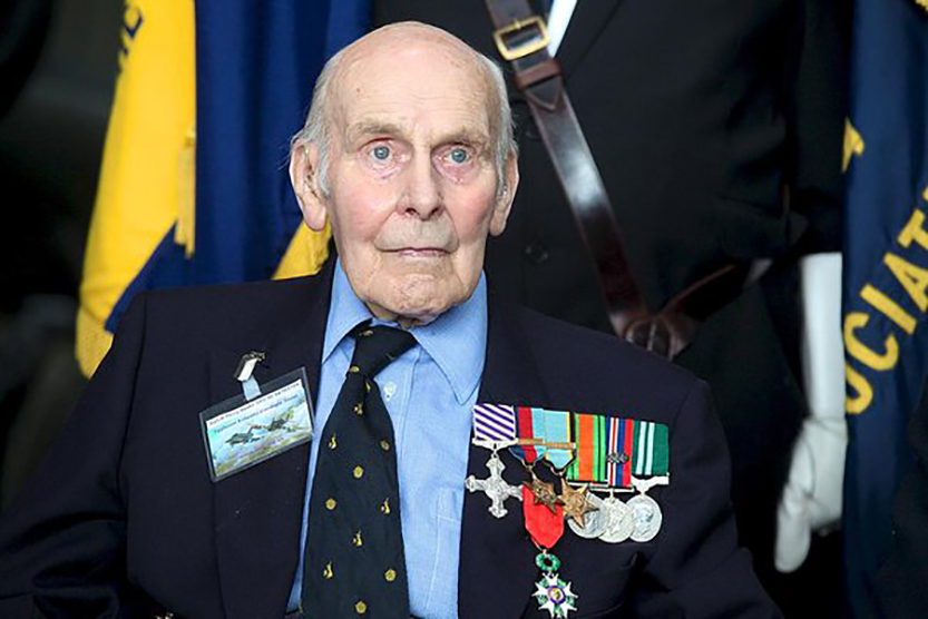 In 2015, 71 years after his service during the liberation of France, the French government appointed Squadron Leader (retired) Beake to the Legion d'honneur. He received the medal accompanying the honour from the French Consul to England. PHOTO: http://www.telegraph.co.uk/obituaries/ (available only in English)