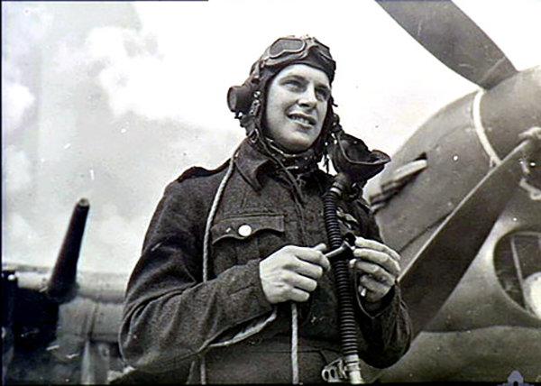 In an undated photograph, pilot Percy Beake of the Royal Air Force stands beside his aircraft. PHOTO: Ciel de Gloire [http://www.cieldegloire.com/003_beake_p_h.php (available only in French)]