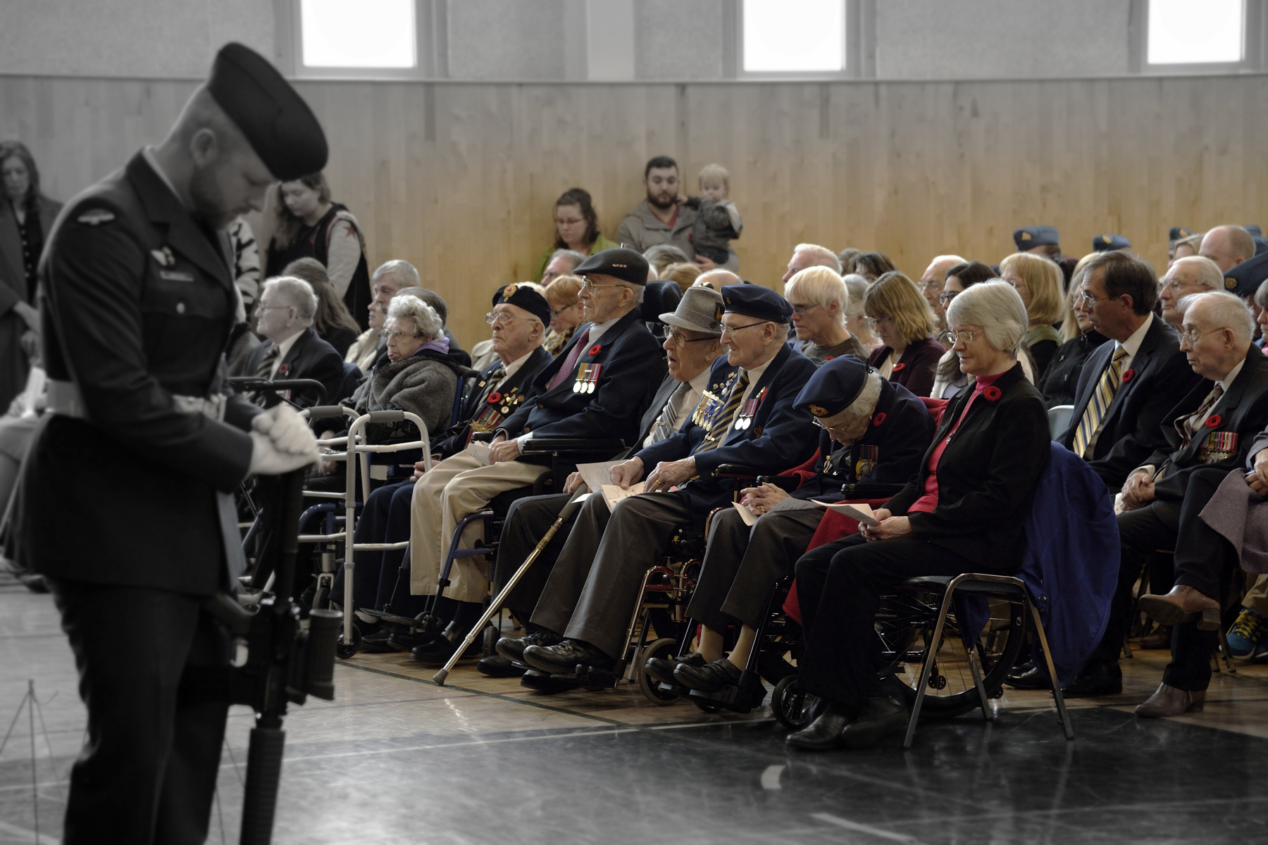 Veterans and family members attend the Middleton, Nova Scotia, Remembrance Day Ceremony, on November 11, 2016. PHOTO: Corporal Jessye Therrien