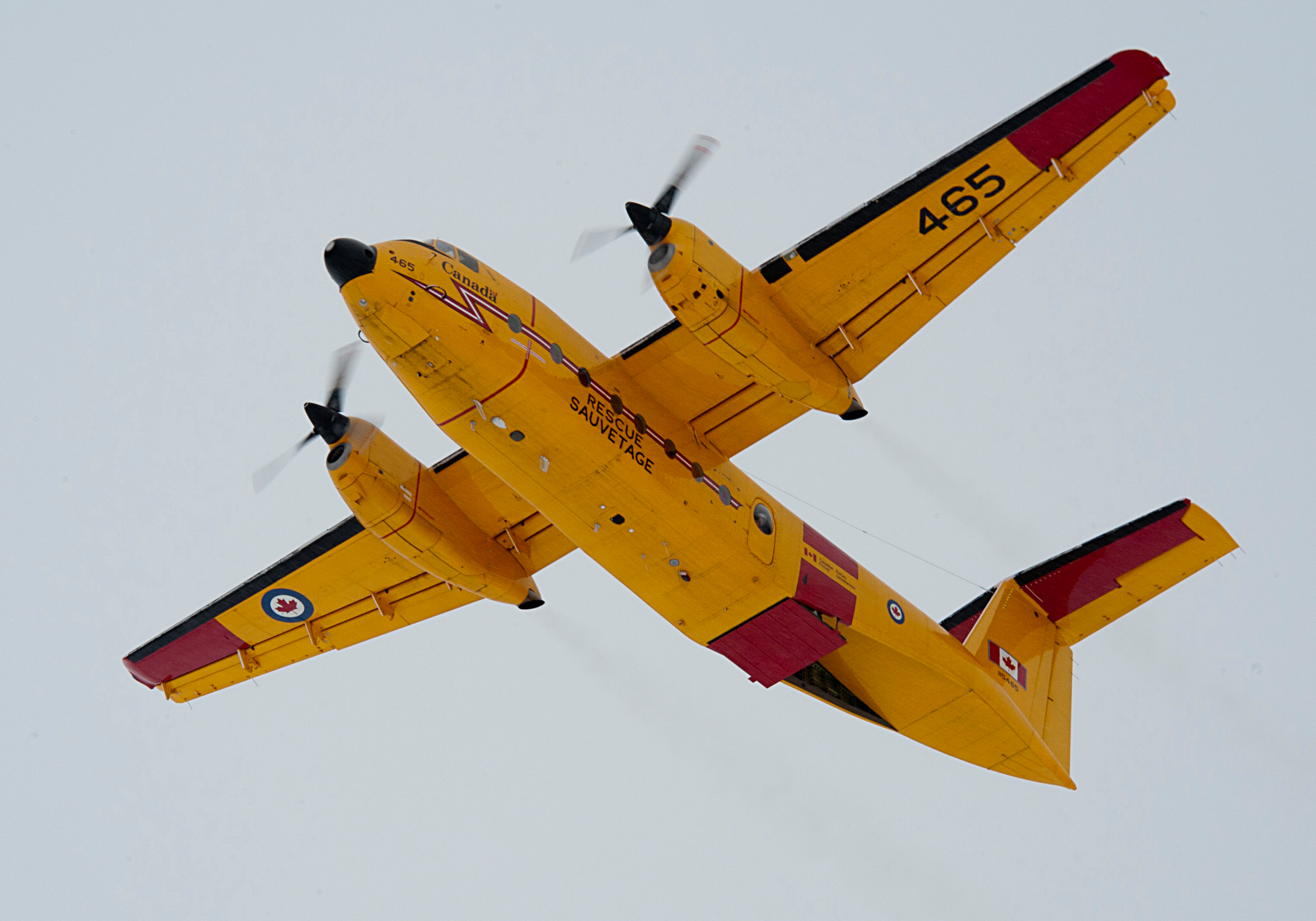 The Airbus C295W will replace the RCAF's fixed wing search and rescue (FWSAR) capability currently being provided by the CC-115 Buffalo (seen here) and CC-130H Hercules. PHOTO: Corporal Jax Kennedy, IS2012-3015-03