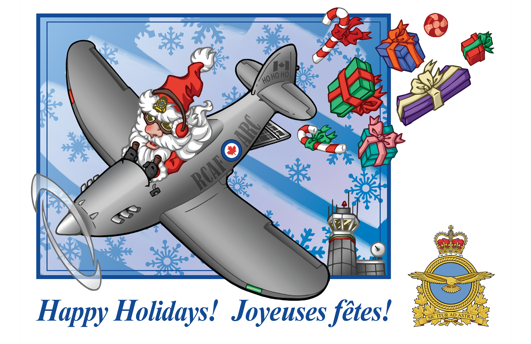 Royal Canadian Air Force News Article Christmas And Holiday