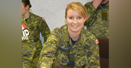 "Lieutenant-Colonel Julie Callacott has this advice to young women thinking of joining the Royal Canadian Air Force: ""Don't wait, just do it. I have no regrets and can't imagine doing anything else."" PHOTO: Submitted"