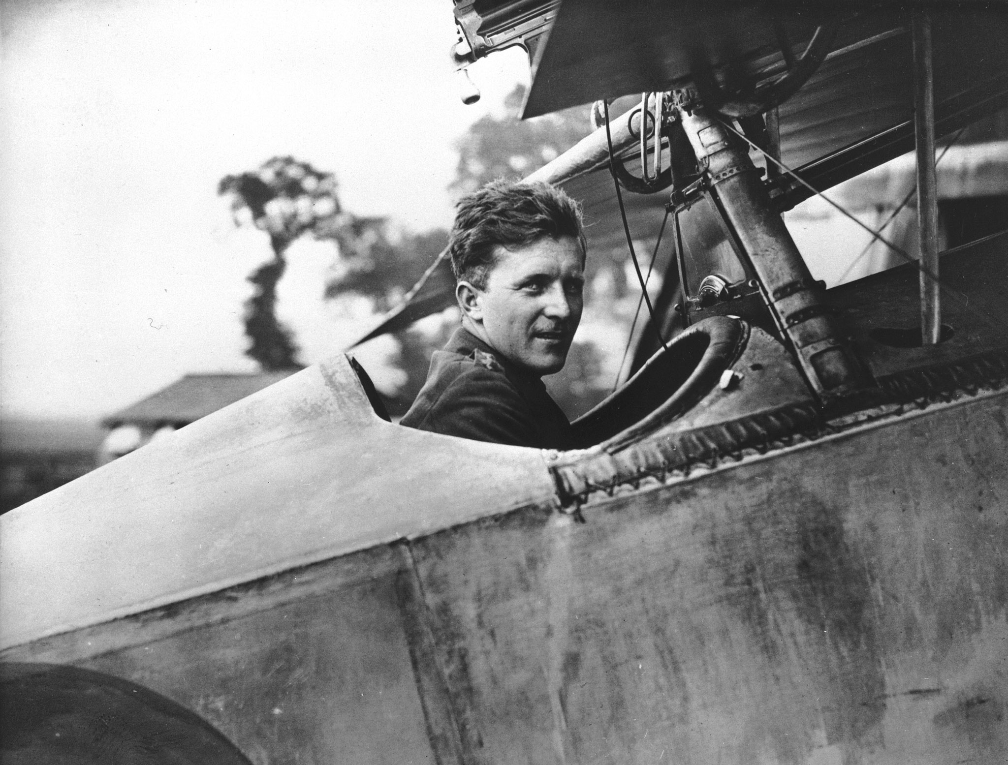 "Captain William A. ""Billy"" Bishop in the cockpit of his Nieuport Scout, on August 6, 1917, while with No. 60 Squadron. Then-Lieutenant Bishop flew during the Battle of Arras, of which the Battle of Vimy Ridge was part, during ""Bloody April"". PHOTO: DND Archives, AH-470A"