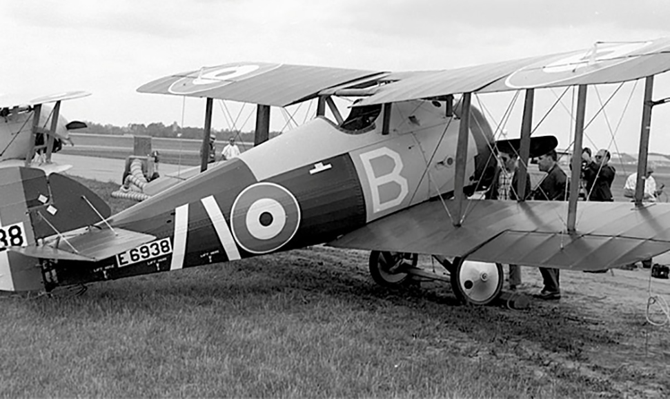 "The Sopwith Snipe (E6938) of the National Aeronautical Collection (now the Canada Aviation and Space Museum) sits on the grass at Rockcliffe, Ontario, just east of Ottawa, in 1967. Not more than 100 Snipes reached France before the end of First World War. After the war, the Snipe was adopted as the standard RAF fighter, and production continued into 1919. A total of 497 were built by the end of 1918. While 4,500 had been ordered, 2,056 had been completed by the end of 1919. Many went straight to storage and never saw service. The Snipe is considered to be the ultimate development of the small rotary-engine fighter. While almost as manœuvrable as the Camel, the Snipe was much less tricky to fly. One of the outstanding single-handed air battles of the war occurred when Major William ""Billy"" Barker, a Canadian pilot, fought off a formation of fighters. After shooting down a two-seater, he was set upon by 15 Fokker D.VIIs. Although wounded in both legs and one arm, he managed to destroy three of his opponents before crashing. He survived and was awarded the Victoria Cross. The fuselage of his aircraft, complete with bullet holes, is part of the Canadian War Museum collection. PHOTO/TEXT: Canada Aviation and Space Museum"