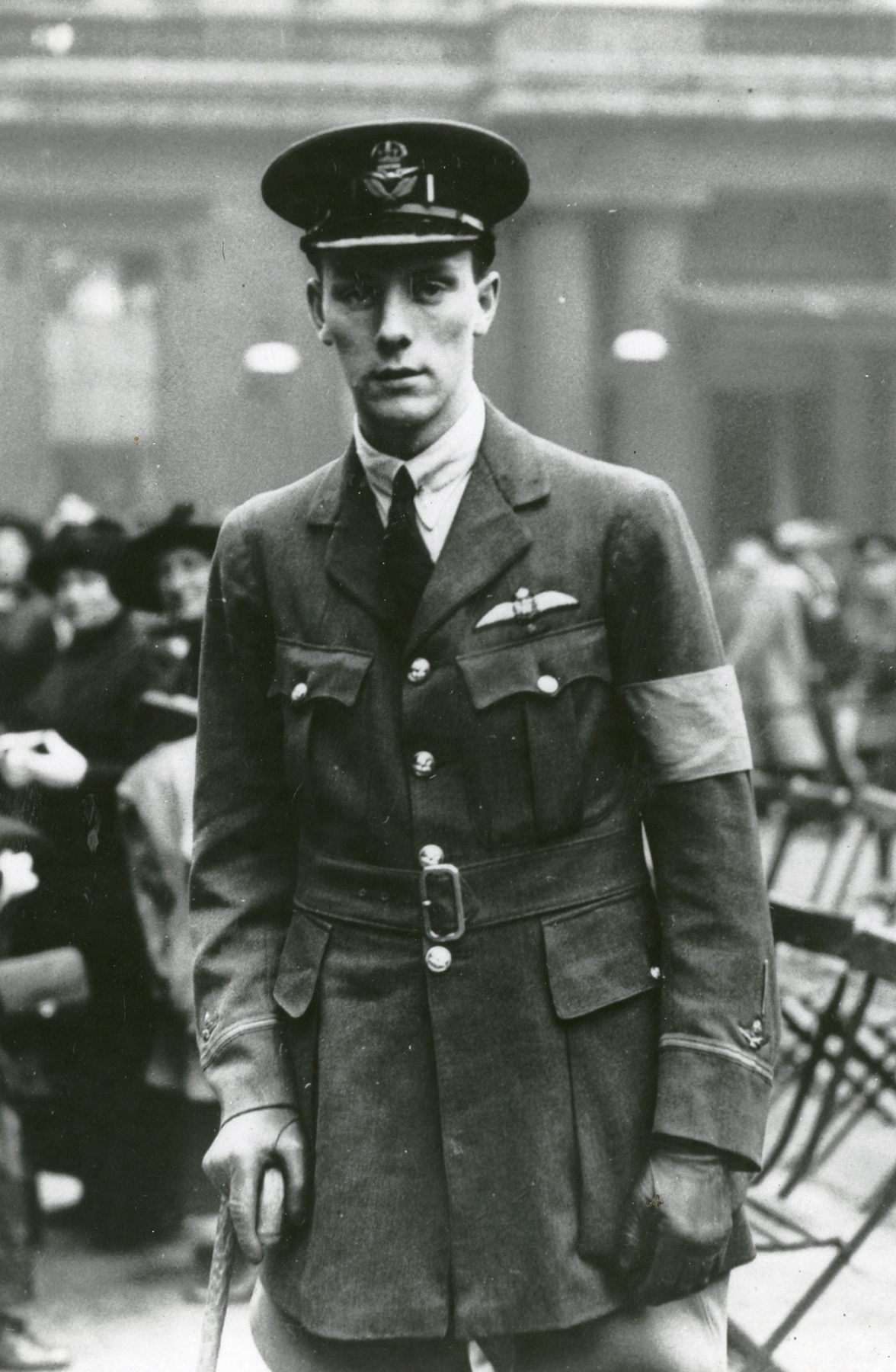 Tired and drawn from his wounds, Second Lieutenant Alan McLeod stands for posterity just after receiving his Victoria Cross in London, England. Photo: Submitted