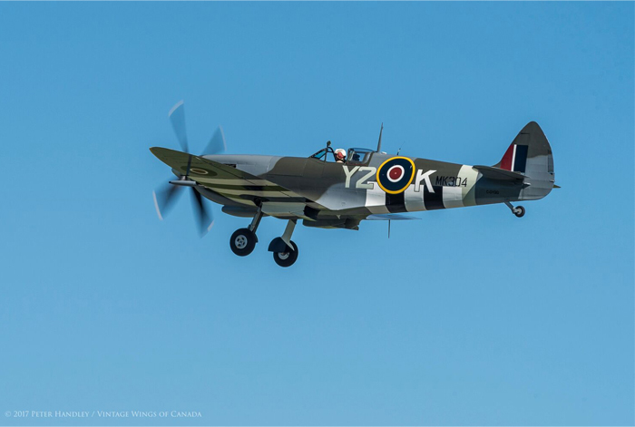 Vintage Wings test pilot John Aitken flies the Roseland Spitfire on a perfect day. PHOTO: Peter Handley