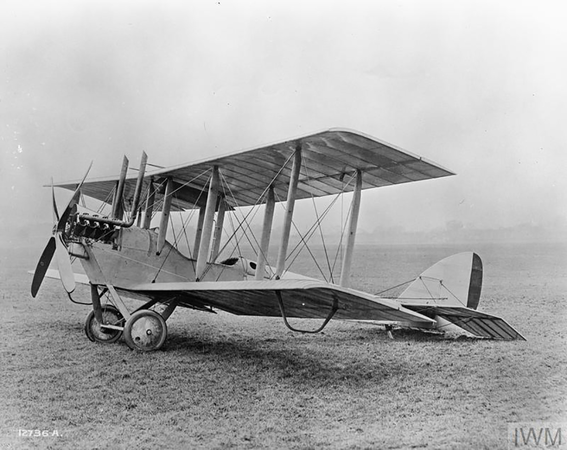 An Airco DeHavilland 6 (DH6) aircraft like the one flown by Flight Lieutenant Morley Roy Shier. PHOTO: Imperial War Museum, 12736-A