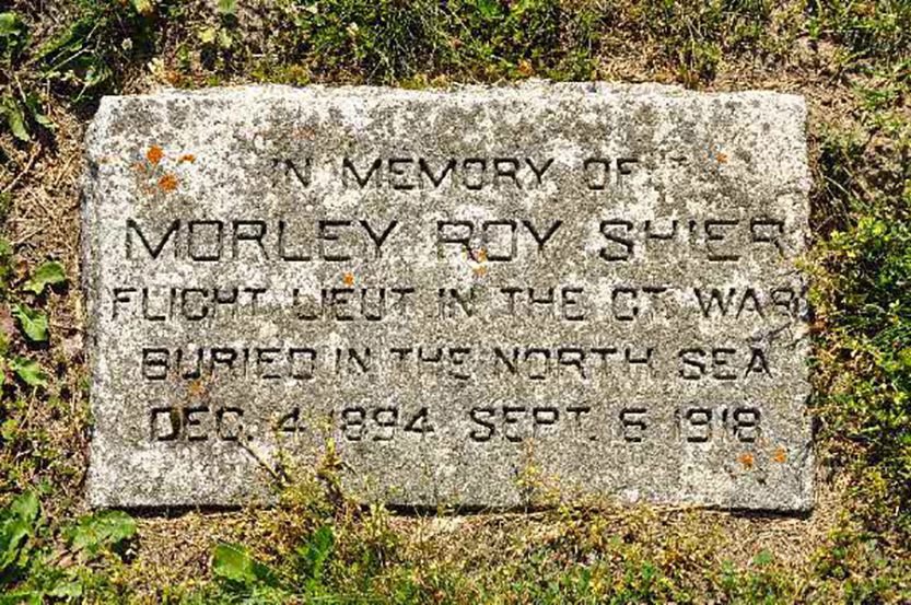 Though Flight Lieutenant Morley Shier went down at sea with his aircraft, he is commemorated with a headstone. PHOTO: Submitted