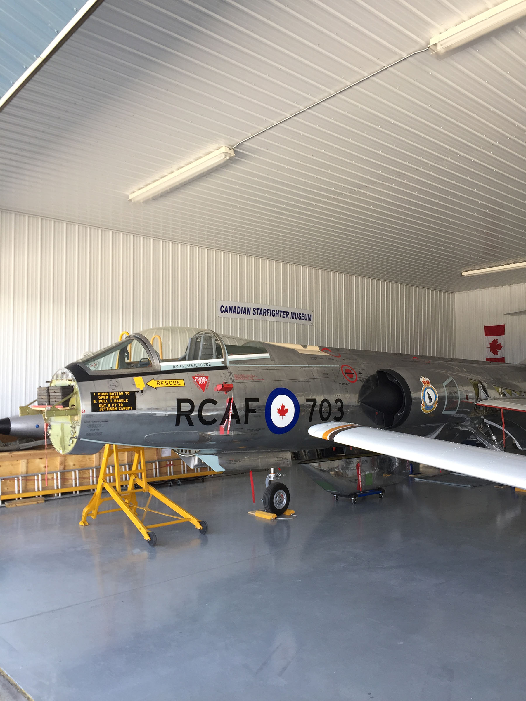 The Canadian Starfighter Museum's nearly completed Starfighter renewal project. PHOTO: Martin Zeilig