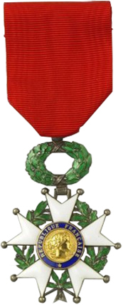 The Legion of Honour. IMAGE: http://www.legiondhonneur.fr/en/rubriques/legion-honor/402/1