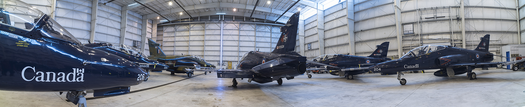 The CT-155 Hawk trainer aircraft of 419 Tactical Fighter (Training) Squadron at rest. PHOTO: NORAD/USNORTHCOM Public Affairs
