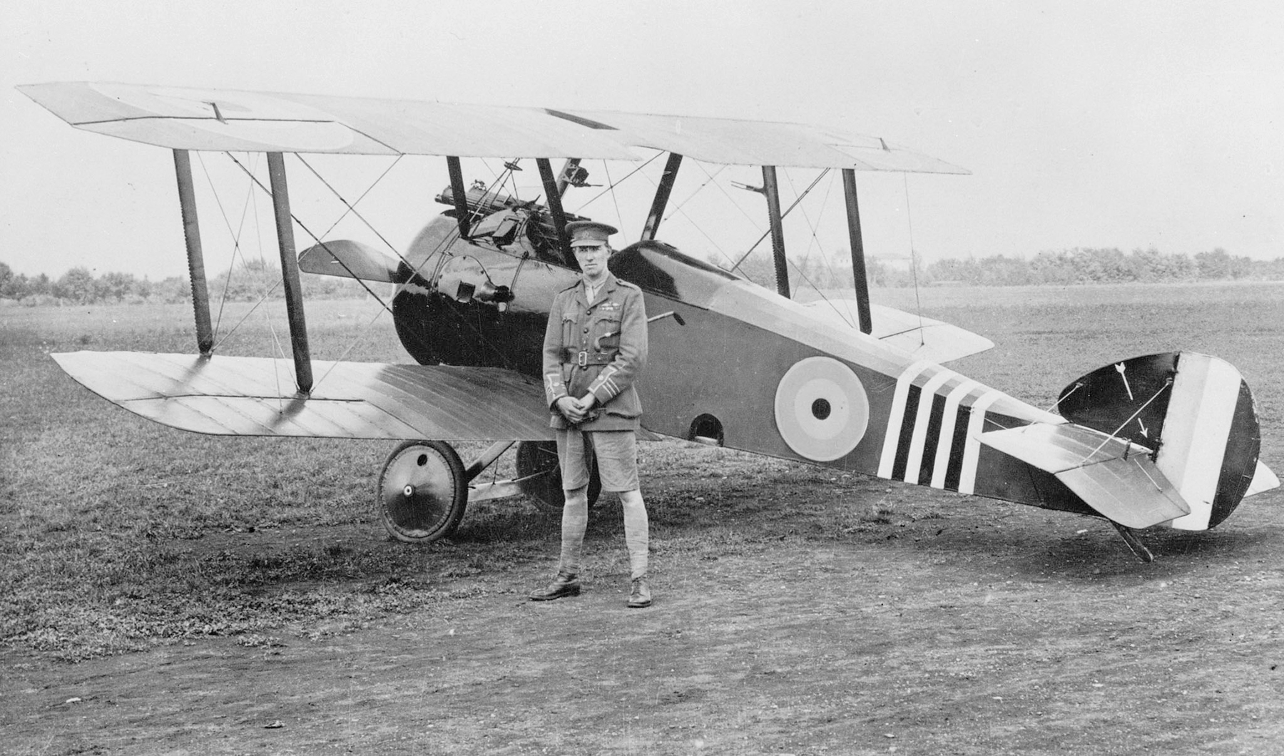 Wing Commander William Barker with his Sopwith Camel, B6313, during the First World War. According to author Wayne Ralph, this aircraft has been declared by British aviation historians to be the most successful fighting aircraft in Royal Air Force history. PHOTO: DND Archives, AH-517