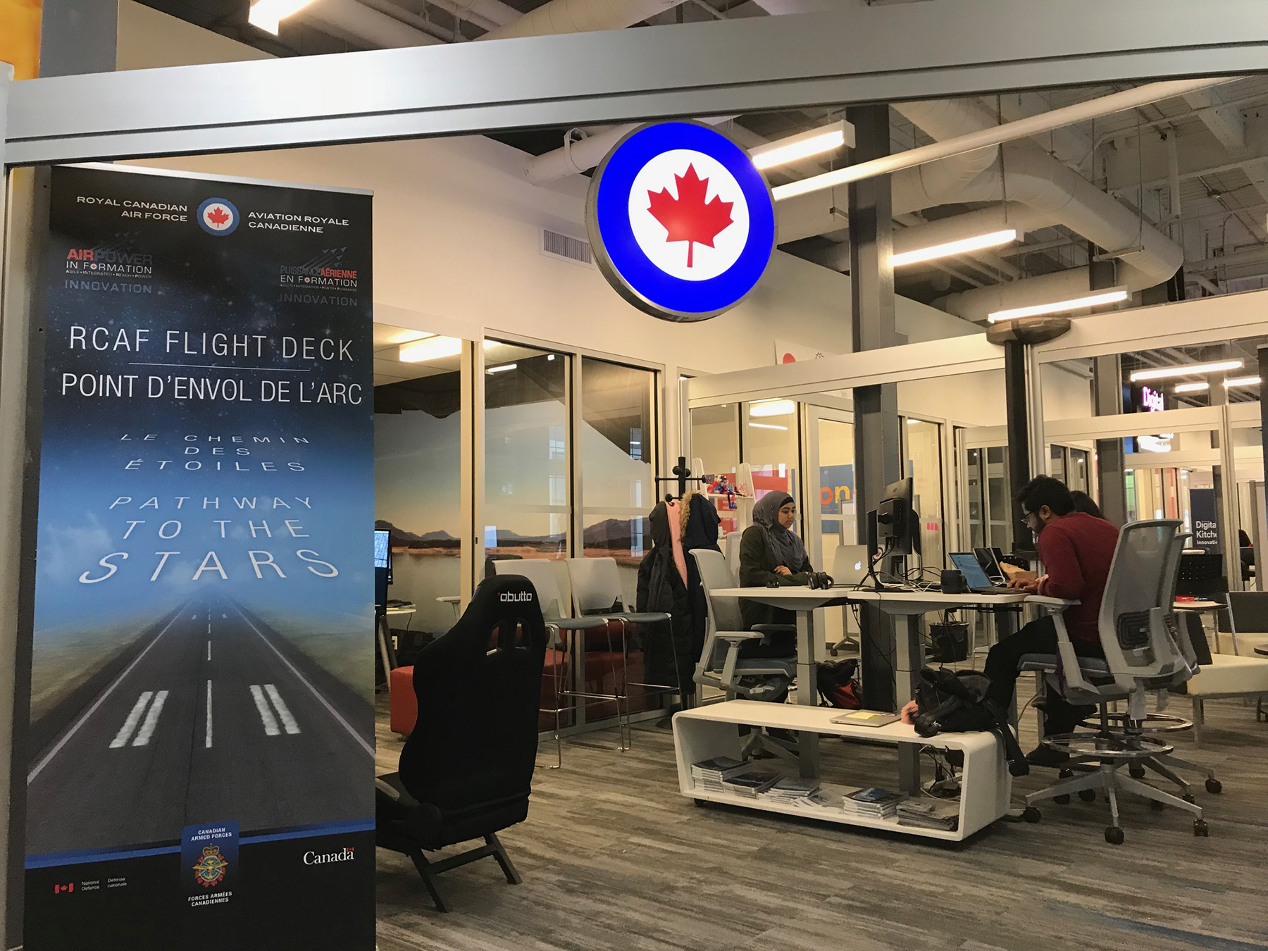 The Flight Deck, the RCAF's space in the Communitech Hub, allows a retooling of the way Canada's Air Force approaches technology and keeps an eye out for startups that can help it solve real-world problems. PHOTO: DND