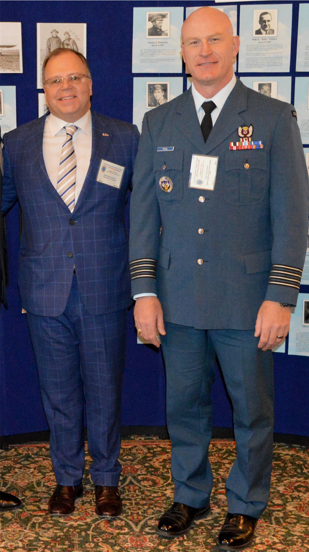 Consul General of Canada Stephane Lessard and RCAF Colonel Kyle Paul at the October 13, 2018, ceremony inducting Ralph Hendricks into the Colorado Aviation Hall of Fame. PHOTO: Submitted