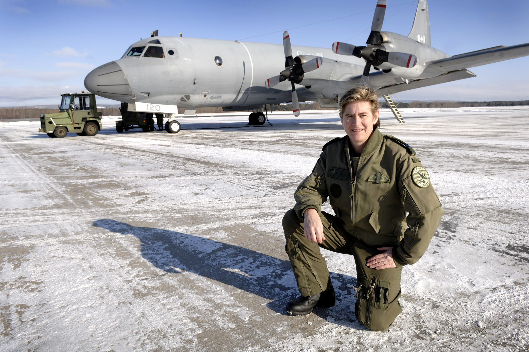 "Captain Mary Cameron-Kelly is among the recipients of the Northern Lights Aero Foundation's 2019 ""Elsie"" awards, honouring Canadian women who have made outstanding contributions to aviation and aerospace. PHOTO: Private Ryan Winton, GD2008-0088-008"