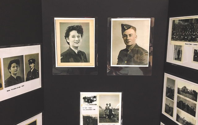 A display of war-era photos of Betty and Ian Wilson was featured at the presentation of the French Legion of Honour to Corporal Ian Wilson on June 15, 2019. Mrs. Wilson is also a veteran, having served with the Royal Air Force during the Second World War. PHOTO: Nicole LaTourelle, Deer Lodge Centre Foundation
