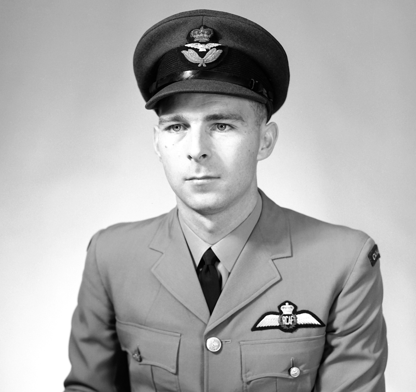 A man wearing a military uniform.