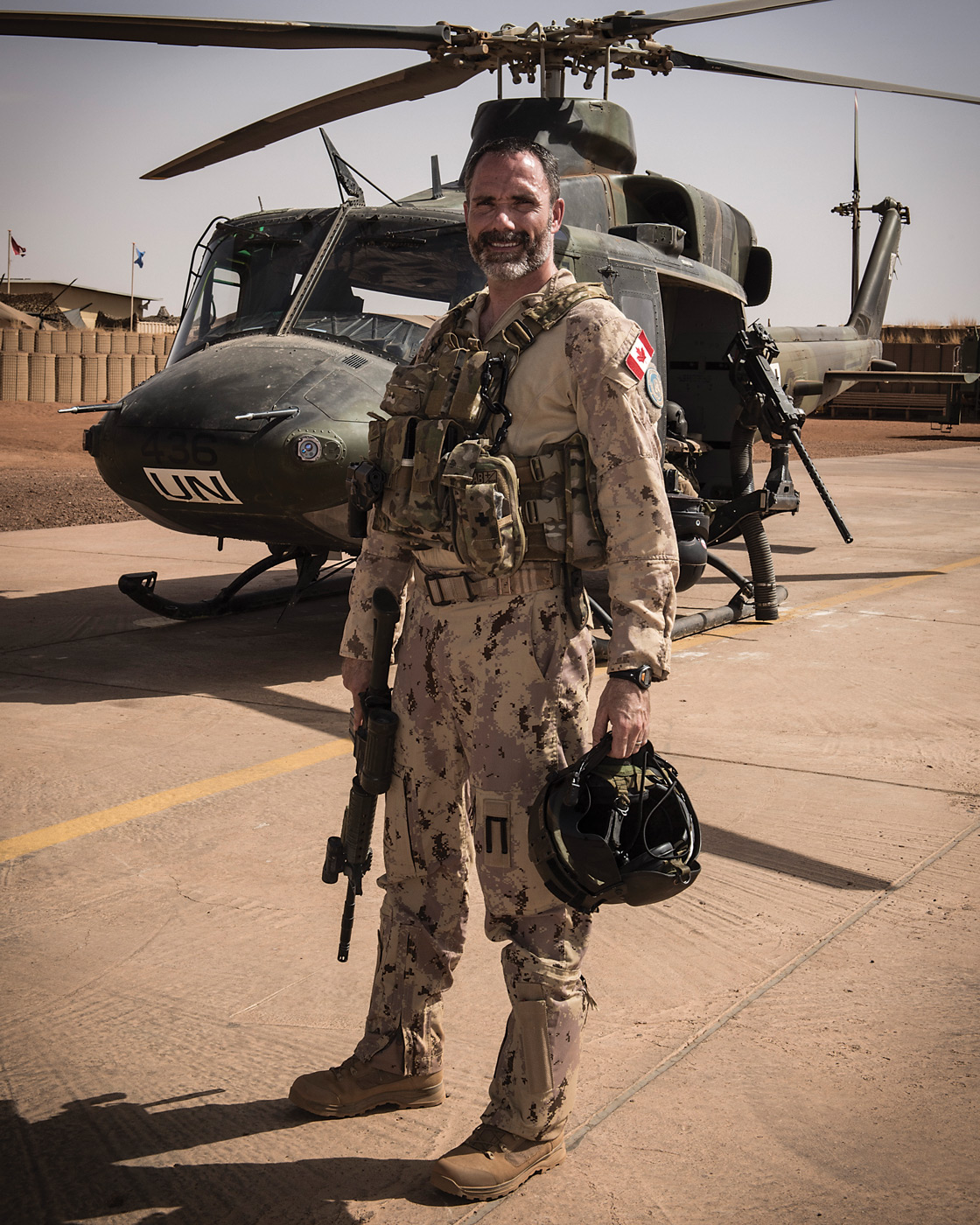 Lieutenant-Colonel Mike Babin is the commanding officer of 430 squadron and was commanding officer of the Operation Presence aviation battalion. PHOTO: Corporal François Charest