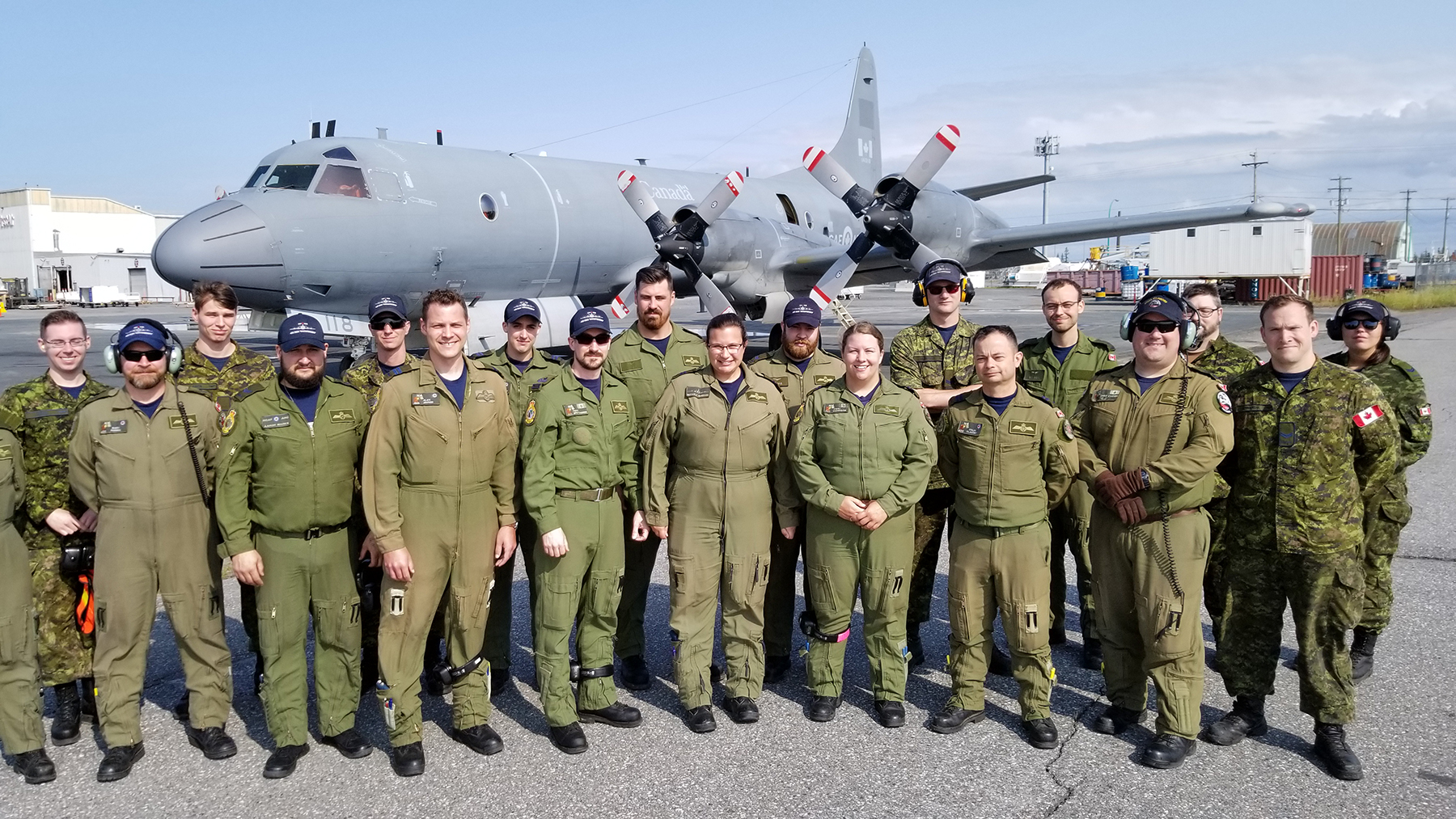 A 14 Wing Greenwood, Nova Scotia-based CP-140 Aurora tactical crew and ground support technicians played a vital role in Operation Limpid, maintaining Canada's physical presence throughout the North. PHOTO: Submitted